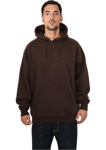 Urban Classics Blank Hoody   Herren Kapuzenpullover in brown in Größe: XXL + original Bandana gratis
