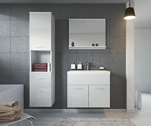 Gunstig Badezimmer Badmobel Montreal 60 Cm Waschbecken Hochglanz