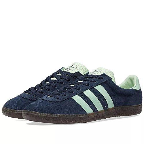 adidas Herren Padiham Spezial Hohe Sneaker Blau Navy Blue/Green, 44 EU