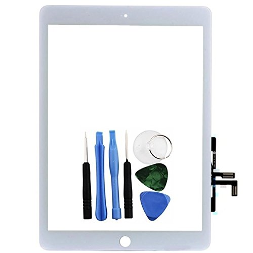 Ipad 5-screen-ersatz (BisLinks® Weißer Touchscreen Digitalwandler Frontglas Linse Ersatz für Apple iPad Air 5)