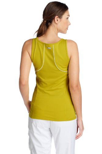 ESPRIT  - Top smanicato collo a v, donna verde (Grün (Banana Green 750))