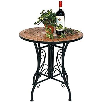 Amazon.de: Wohaga® Mosaik Gartentisch rund Ø70cm