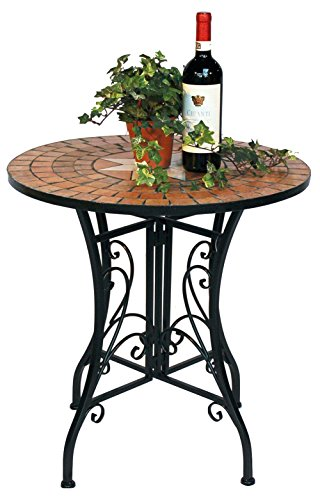 DanDiBo Table Mosaic Merano 12001 Garden table D-60 cm Metal Side table Patio table
