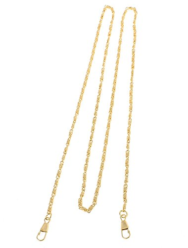Metallic Pu-geldbeutel-handtasche (Handtasche aus Dekostoff METALLIC Kette DIY als Halskette Fußkette 120 cm Länge Messing Ton)