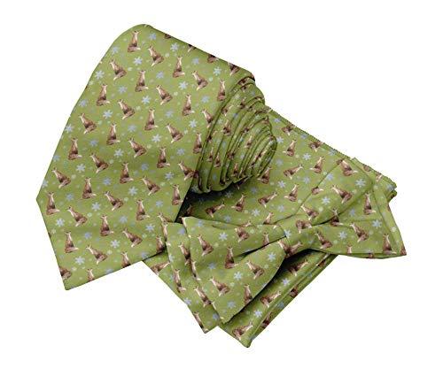 BESTMAN Bedruckter Ascot-Schal mit Krawatte und Einstecktuch für Herren -