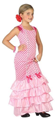 Fancy Me Mädchen Kostüm Spanische Flamenco-Tänzerin Around The World, 3-12 Jahre, Rosa