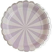 Platos desechables - Platos desechables de 16 cuentas para bodas o fiestas, 9 pulgadas#19