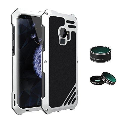 ARBLOVE Lente Cover per Galaxy S9 Plus Custodia Antiurto,a Prova di Caduta,Anticaduta,Robusta,Militare,Ottima Protezione per attività Sportive all'Aperto per Galaxy S9 Plus,Argento