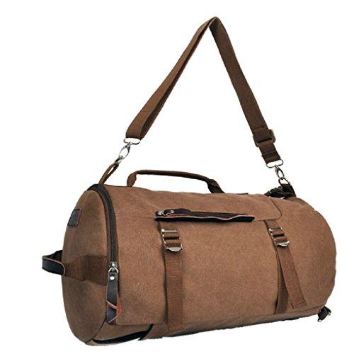 ZeleToile YF-02 - Pro-Multifunción del estilo retro canvas lona mochila para senderismo bolsa para viajes en fin de semana para ocio casual versátil Laptop 13 ~ 14 pulgadas
