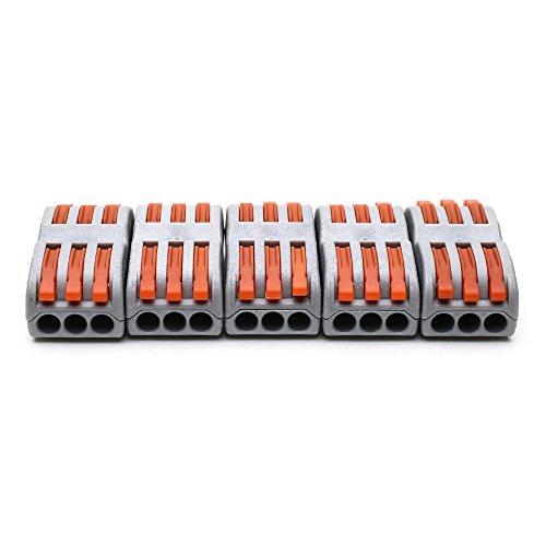 suyep Compact-Verbindungsklemme 400V 28–12AWG pct-spl-3/222–413, grau