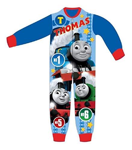 Tuta intera tutina pigiama per bambino bambina paw patrol toy story woody buzz lightyear marvel avengers thomas e i suoi amici 2-8 anni completi neonato (trenino thomas, 3-4 anni)