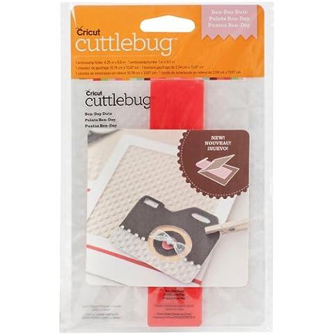 Provo Craft Cricut Cuttlebug A2 Cuttlebug-Cartella goffratura e bordo, Ben, motivo giornata a pois