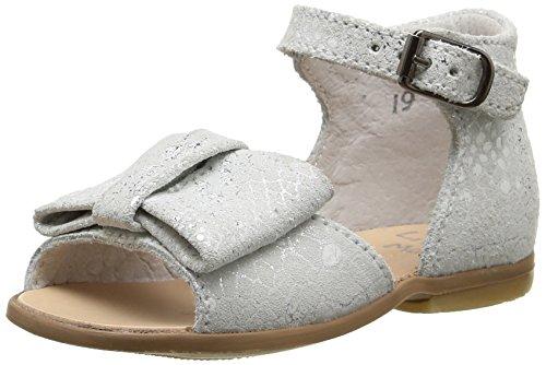 Little Mary Maryse, Chaussures Premiers pas bébé fille Blanc (Lezard Blanc)