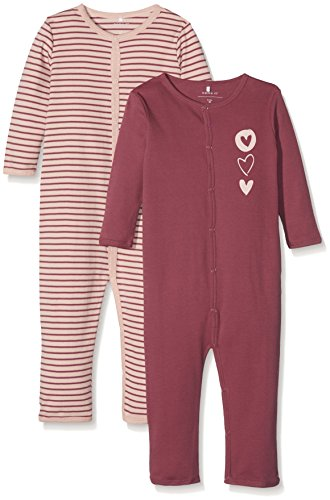 NAME IT Baby-Mädchen NMFNIGHTSUIT 2P Dry Rose NOOS Schlafstrampler, Mehrfarbig, 86 (2erPack)