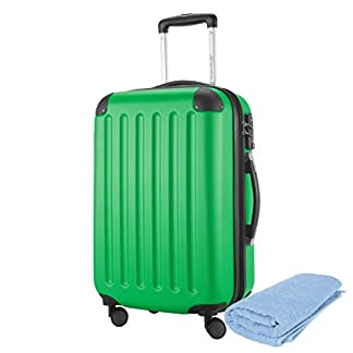 HAUPTSTADTKOFFER® SPREE 1203 Maleta rígida, 3 tamaños (49 litros, 82 litros, 128 litros), mate, cerradura de combinación TSA, etiqueta de equipaje
