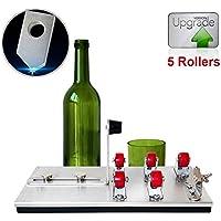 Benfa Glasflaschenschneidemaschine Für Alle Arten Von Flaschen Metall Upgrade Version 5 Rollen Präzise, Schneidwerkzeug Kit Für DIY-Projekte