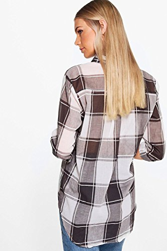 Bleu Femmes Blue Womens Maisie Large Check Oversized Shirt Bleu