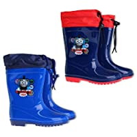 Thomas and Friends Wellies Snow Boots With Waterproof Fabric Toggle Tie Tops