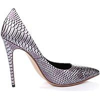 Scarpe da donnaWomens serpentina indicò punta bocca superficiale alto - scarpe da donna con tacco , brown , 38