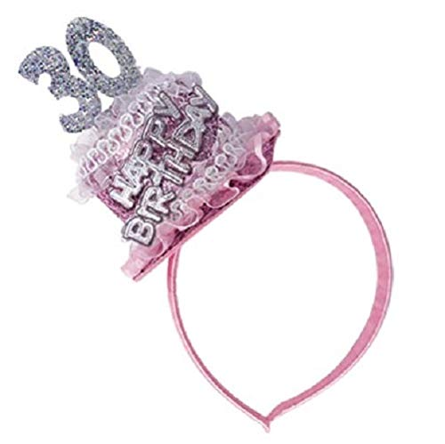 Diadema tarta 30 cumpleaños - Accesorios fiesta 30