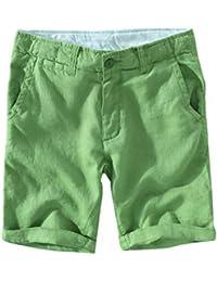 Short Homme en Lin Pur Décontracté Pantalons De ... facad3123a8