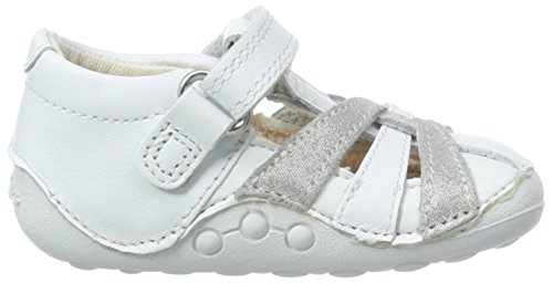 Clarks Little Mae, Sneakers Basses fille Gris (Metallic Combi)