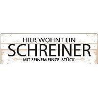 Shabby Vintage Schild Türschild HIER WOHNT EIN WINZER MIT SEINER SÜßEN TRAUBE