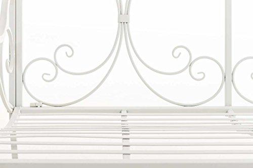 CLP Eisen Gartenbank YAMA, 2-Sitzer, Landhaus-Stil, Design nostalgisch antik Weiß - 6