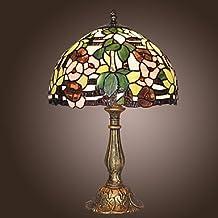 LLW-Tiffany lámpara de mesa con un patrón de luz con flores