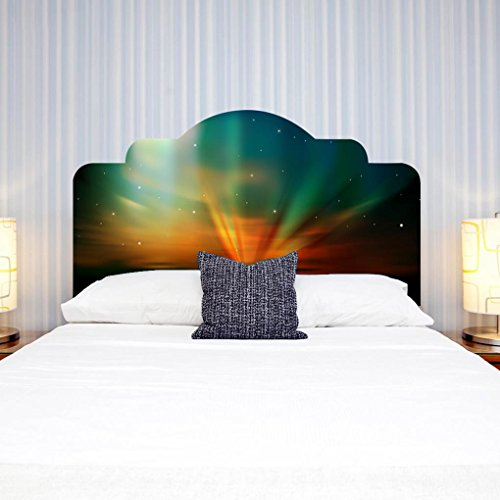 LNPP Creativa colorida Aurora 3D DIY etiqueta de la pared para la decoraci¨®n de la pared del cabecero de imitaci¨®n cama del dormitorio , small double bed full size76*137