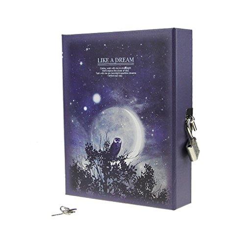 Sachen Vier (Notizbuch - Kreativ Tagebuch wie ein Traum Moonlight Pattern Journal Notizblock mit codierten Lock für gute und schlechte Sache zu behalten (4 Farben wird zufällig versendet))