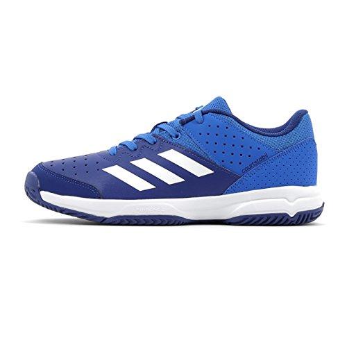 adidas Unisex-Kinder Court Stabil Jr Handballschuhe Mehrfarbig (Blue/ftwr White/mystery Ink F17)