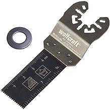 Wolfcraft 3989000 - Hoja de sierra de inmersión para madera, plástico reforzado con fibra de vidrio, planchas de placa de yeso, plásticos 22 mm sierras vibratorias