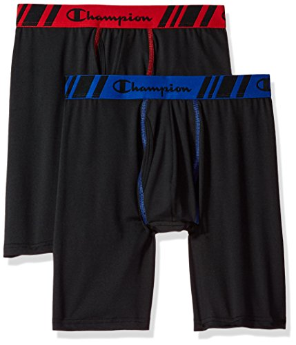Champion Men's Tech Performance Long Leg Boxer Brief 2-Pack -
