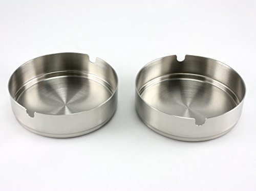 skyway-stainless-steel-ashtray-outdoor-indoor-rust-proof-silver-set-of-2-by-skyway-products