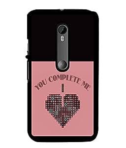 Fuson 2D Printed Love Designer back case cover for Motorola Moto G Turbo Edition - D4299