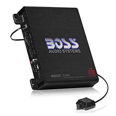 Boss Audio R1100M 1100W Riot Monoblock Remote Subwoofer Level Control Power Amplifier