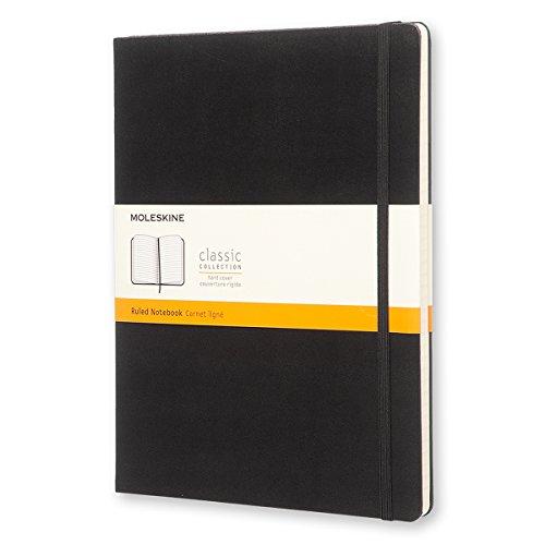 Moleskine Notizbuch, Groß, Liniert, Hard Cover, schwarz
