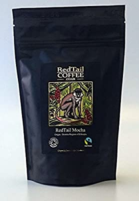 RedTail Mocha 250g (2 x 125g bags) Ground Coffee for Cafetiere/Drip/Filter Organic and Fairtrade Certified from the Oromia region of Ethiopia by RedTail Coffee