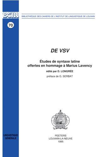 Syntaxe Latine [Pdf/ePub] eBook