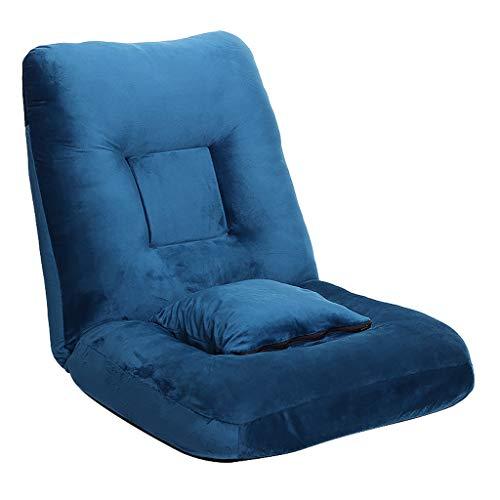 Lazy Couch, Tatami Faltbare, Einzelbett, Schlafzimmer Computer Stuhl Erkerfenster Rückenlehne (Color : Navy) - Computer Navy Stuhl