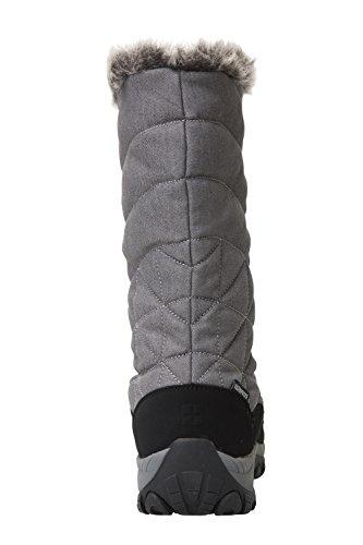 Mountain Warehouse Bottes de Neige Après Ski Femme anti-dérapantes Chiller Gris