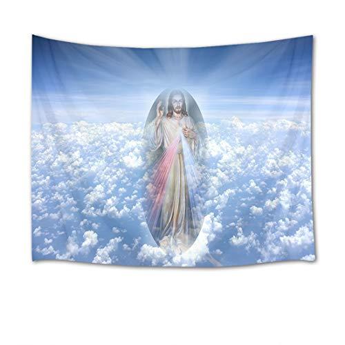EOB Christian Tapisserie Wandbehang,Der Sohn Gottes Jesus Kunstdruck-Tapisserie-Hauptdekoration für Schlafzimmer-Wohnzimmer-Schlafsaal,200x150cm