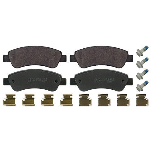 Preisvergleich Produktbild febi bilstein 16814 Bremsbelagsatz mit Anbaumaterial (hinten,  4 Bremsbeläge),  ohne Verschleißwarnkontakt