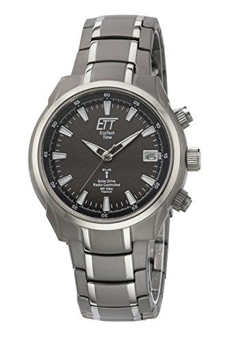 34bd64f04a73 Eco Tech Time Solar Drive Funk Aquanaut II Titanio Reloj de hombre EGT de  11340 –