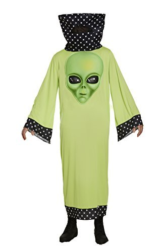 Erwachsene Kostüm Mit Alien Riesige Gesicht Spaß Kostüm (Kostüm Uk Alien Erwachsene)