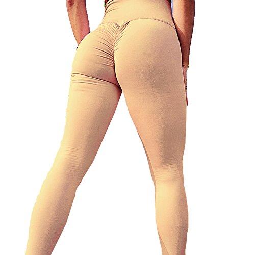 Femme legging push up pantalons de jogging - Juleya femmes yoga pantalon taille haute collants doux confortable pantalons de course élastique leggins 4 couleurs S-XL couleur 1