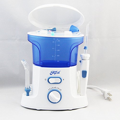 BLUE AND WHITE DENTAL FLOSSER