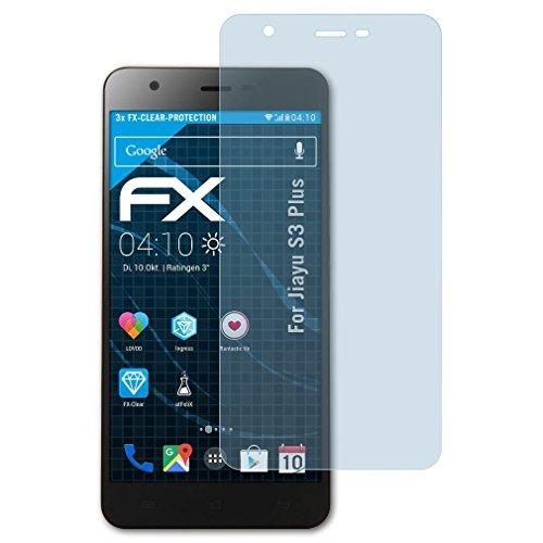 atFolix Schutzfolie kompatibel mit Jiayu S3 Plus Folie, ultraklare FX Bildschirmschutzfolie (3X)