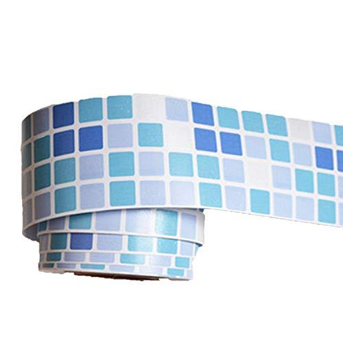 Badezimmer-fliesen Akzente (Sticker Küche Art Aufkleber PVC selbstklebend Tapeten Rolle Badezimmer Fliesen Wasserdicht Tapeten Bordüre, L0416-lKiBKhhxiaQ3JubrJVkr)